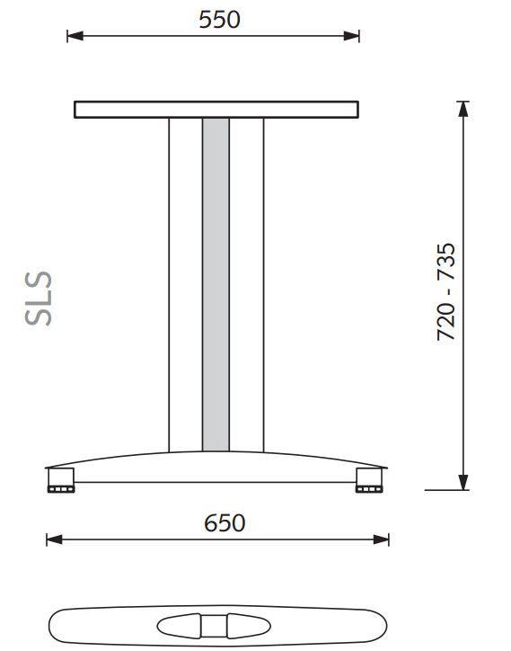 SLS stelaż pod biurko proste / stół - Valorous.pl
