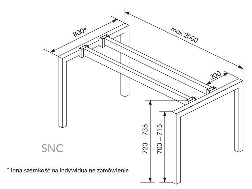 SNC/BW stelaż pod biurko, stół - Valorous.pl